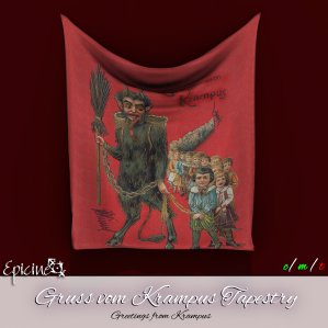 Epicine - Gruss vom Krampus Tapestry Ad