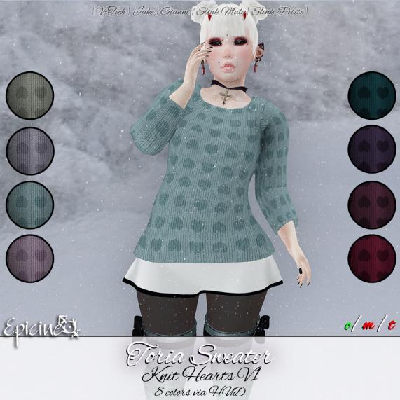 Epicine - Toria Sweater - Knit Hearts v1 Ad