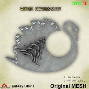 FC- Mesh Winter Princess Swan CB