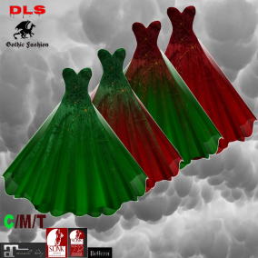 Gothic & Vampire Needs Christmas Gowns red and green MIX Pack