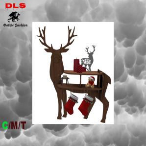 Gothic & Vampire Needs - X-mas decorated Reindeer shelf