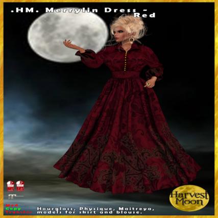 Harvest Moon -Merrylin Dress - Red