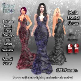 Irkalla Frosted Velvet Gowns 100% Donation
