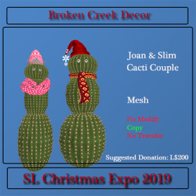 Joan & Slim Cactus Couple