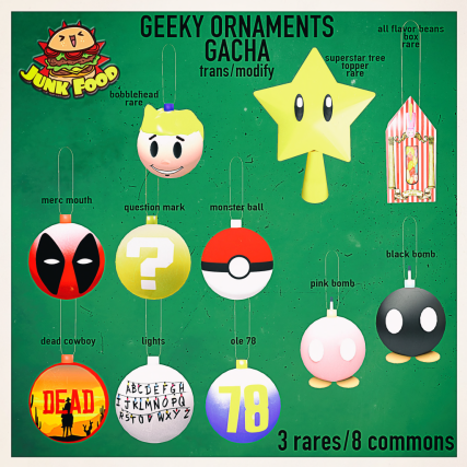 Junk Food - Geeky Ornaments Gacha Ad