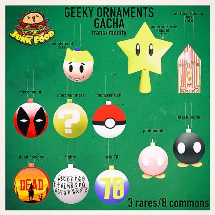 Junk Food - Geeky Ornaments Gacha Ad