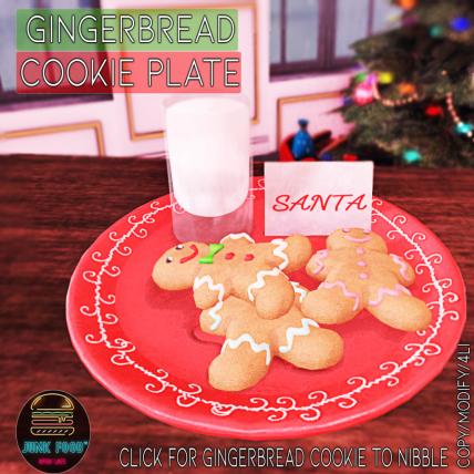 Junk Food - Gingerbread Cookie Plate