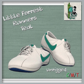 Just Jae Little Forrest Runners Teal AD