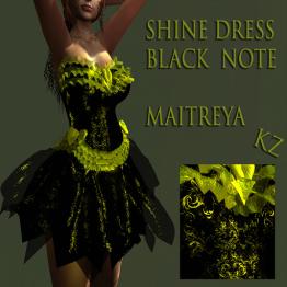 KZ shine dress Black Hote
