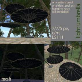 light umbrella - black 512