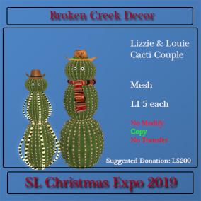 Lizzie & Louie Cactus Couple
