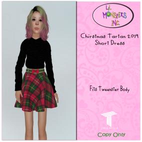 {LMI} Chirstmas Tartan 2019 Short Dress {Tweenster}