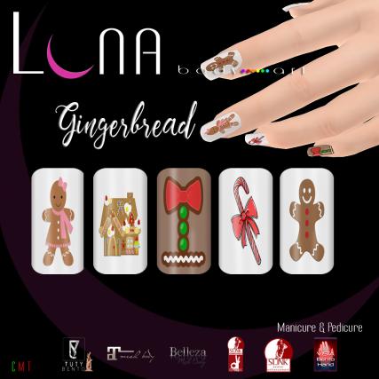.__LUNA__. Body Art Gingerbread Nails