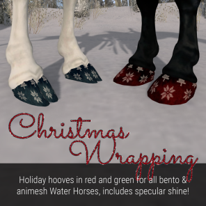 Lunistice_ Christmas Wrapping Hooves (for Water Horse)