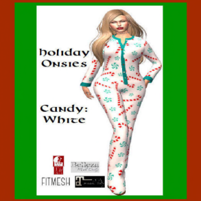 _Mara's Mysteries_ Onsies - Christmas Candy - White