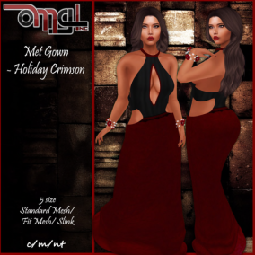 Met Gown - Holiday Crimson 2019 - Pic