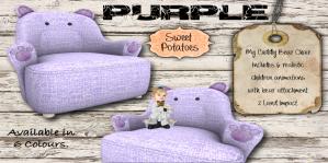 My Cuddly Bear Chair_Purple