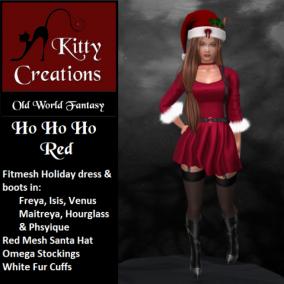 PIC Ho Ho Ho - Red - Kitty Creations