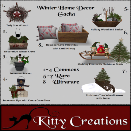 PIC Winter Home Decor Gacha - Kitty Creations