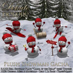 Plush Snowman Gacha - Key _ by Dekute Dekore