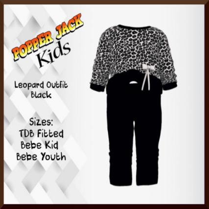 Popper Jack Kids - Leopard Outfit - Black