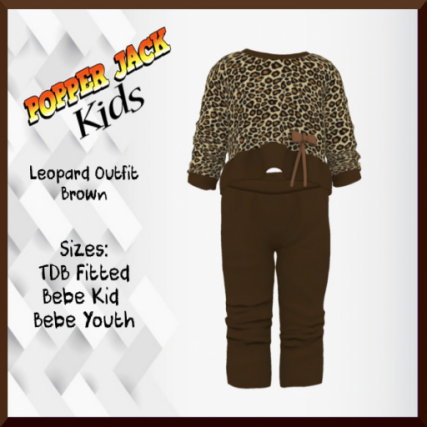 Popper Jack Kids - Leopard Outfit - Brown