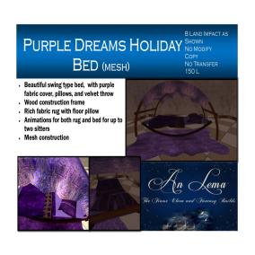 Purple Dreams Bed