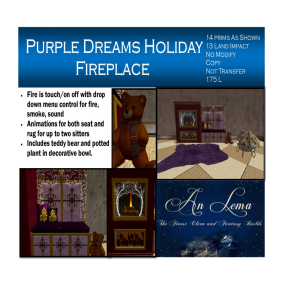 Purple Dreams Fireplace
