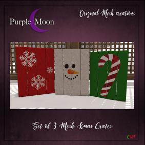 _PurpleMoon - Set of 3 Xmas crates