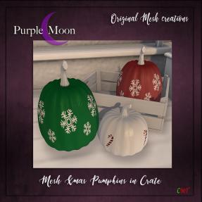 _PurpleMoon - Xmas Pumpkins & Crate Set III