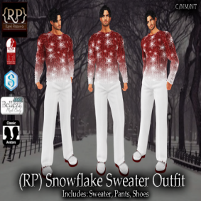 (RP) Snowflake Sweater Outfit Mens Pic