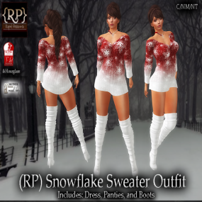(RP) Snowflake Sweater Outfit Pic