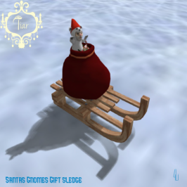 Santas Gnomes Gift sledge