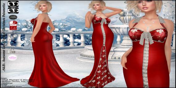 ._S&B_. Awesome Long Formal Christmas Poisonetta