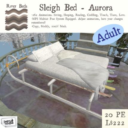 Sleigh Bed - Aurora - Adult 512