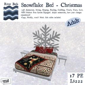 Snowflake Bed - Christmas 512