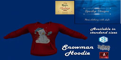 Sparkys Design Snowman Hoodie