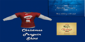 Sparky's Designs - Christmas Penguin Shirt