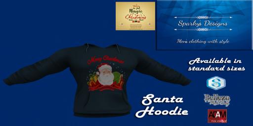 Sparky's Designs - Santa Hoodie