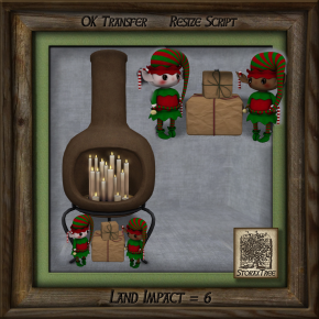 Storax Tree - Chimenea C w Candles Holiday Ac