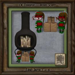 Storax Tree - Chimenea C w Candles Holiday As
