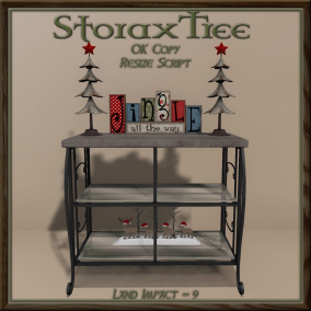 Storax Tree - Holiday Console Shelves A