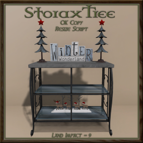 Storax Tree - Holiday Console Shelves B