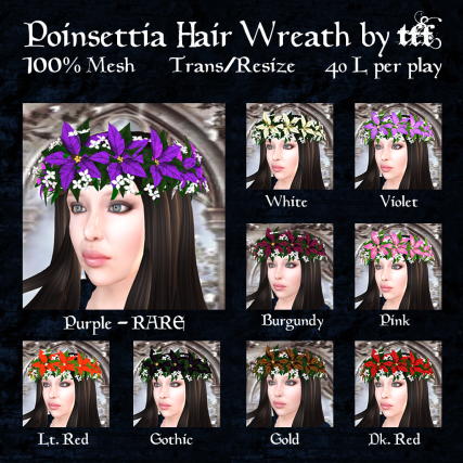TFF Poinsettia Hair Wreath Ad Gacha Ad