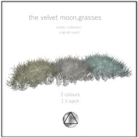 the velvet moon-winter collection grasses