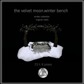 the velvet moon-winter collection winter bench
