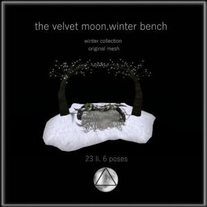 the velvet moon-winter collection winter bench