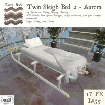 Twin Sleigh Bed 2 - Aurora 512
