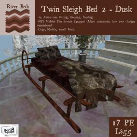 Twin Sleigh Bed 2 - Dusk 512