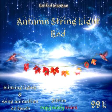 UI Autumn String Light Red
